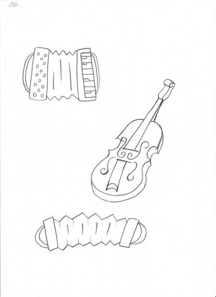Desenho De Instrumentos Musicais Para Colorir  Violino Para Pintar