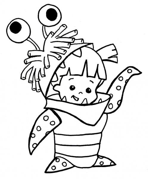 Desenho Para Colorir Monstros Sa