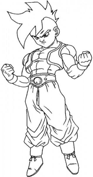 Desenhos Para Colorir Dragon Ball Z Sketch Coloring Page – Free
