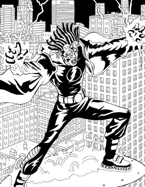 Super Shock Para Colorir – Pampekids Net