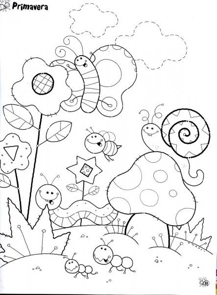 Desenhos Sobre A Primavera Para Colorir E Imprimir – Pampekids Net