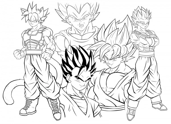 Dragon Ball Z  268 (dibujos Animados) – Páginas Para Colorear