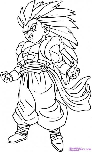Dragon Ball Z  52 (dibujos Animados) – Páginas Para Colorear