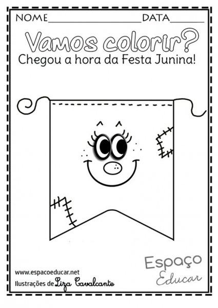 Bandeirinhas De Festa Junina Modelos Fáceis De Fazer Passo A Passo