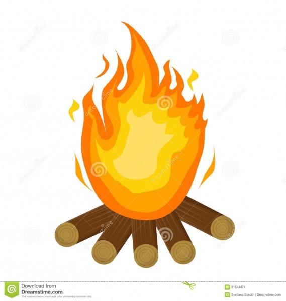 Fogo De Festa Junina ícone Liso, Estilo Dos Desenhos Animados