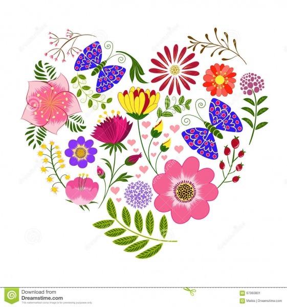 Fundo Colorido Da Flor E Da Borboleta Da Primavera Ilustração Do