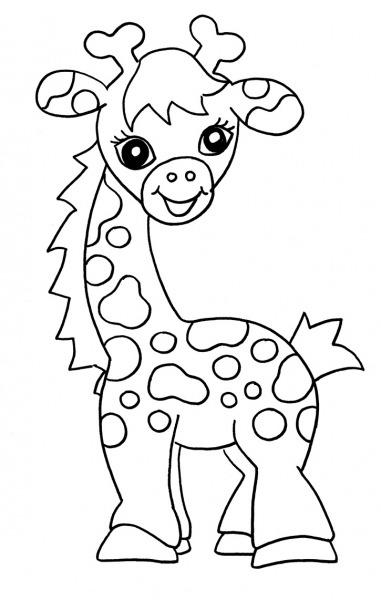 Desenhos De Girafas Para Imprimir E Colorir