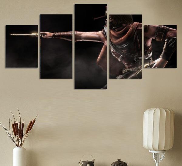 Hd Impresso Hot Cartaz Mortal Kombat Jogo Da Lona Pintura Em Os