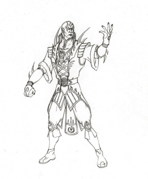 Desenhos De Mortal Kombat Para Colorir