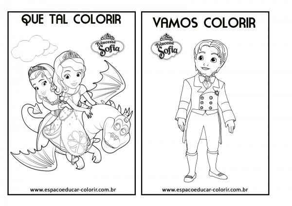 Desenhos Da Princesa Sofia Para Colorir E Imprimir – Pampekids Net