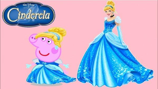 Família Peppa Pig, Desenho Pintado, Ciderela Princesa Disney, Sra