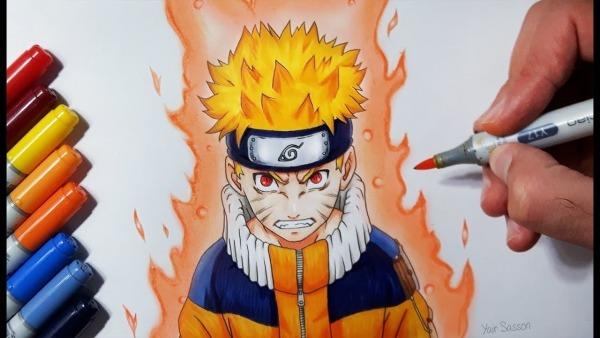 Como Desenhar O Naruto Uzumaki Jinchūriki Phase One