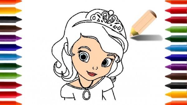 Aprendendo A Desenhar E Colorir A Princesa Sofia