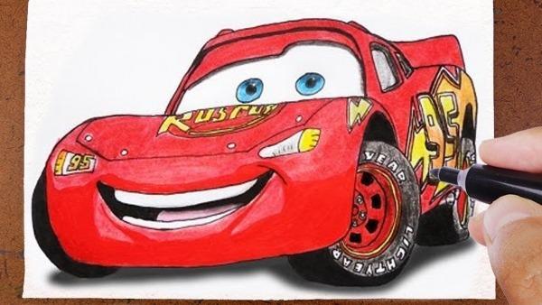 Como Desenhar E Pintar RelÂmpago Carros 3