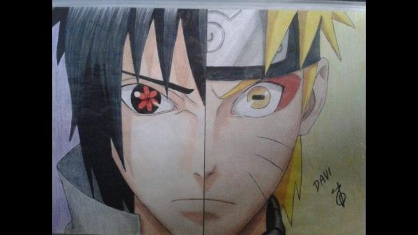 Como Desenhar Sasuke Vs Naruto
