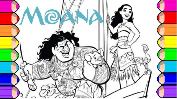 Desenho Para Colorir Da Moana Pintar Princesas Disney Para