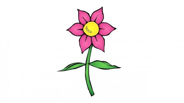 Como Desenhar Uma Flor (fácil)