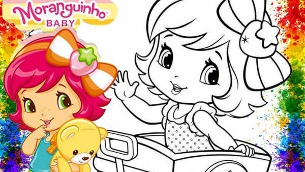 Colorindo Desenho Moranguinho Baby Para Colorir Vídeo Infantil