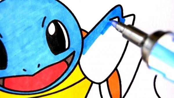 Como Desenhar E Colorir Squirtle Pokemon – Pintar E Aprender Para
