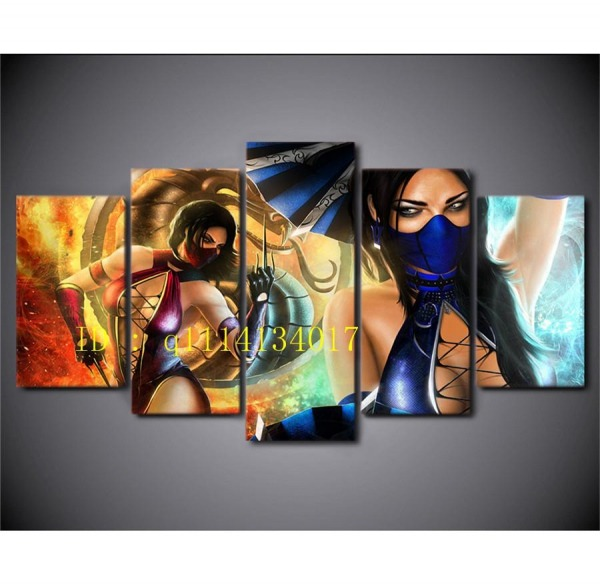 Compre Mileena Vs Kitana, Jogo De Vídeo Mortal Kombat, 5 Peças Da