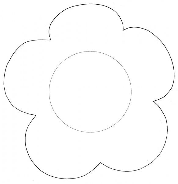 Desenhos De Flores Grandes Para Imprimir – Pampekids Net