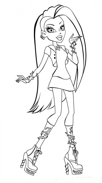 Monster High Desenhos Para Imprimir Colorir E Pintar » Desenhos