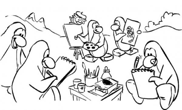 Desenhos Para Colorir De Pinguins  Desenhos De Pinguins Para Pintar
