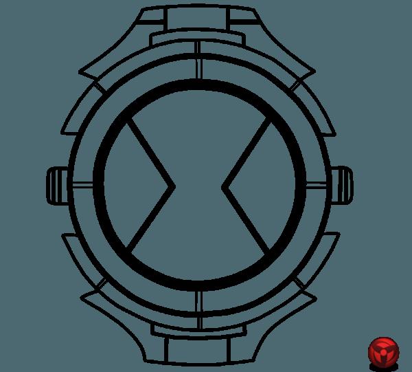 Desenho De Relógio Do Ben 10 Para Colorir