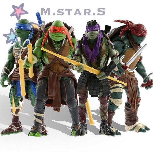 Tartarugas Ninja Figuras De Ação 4 Peças