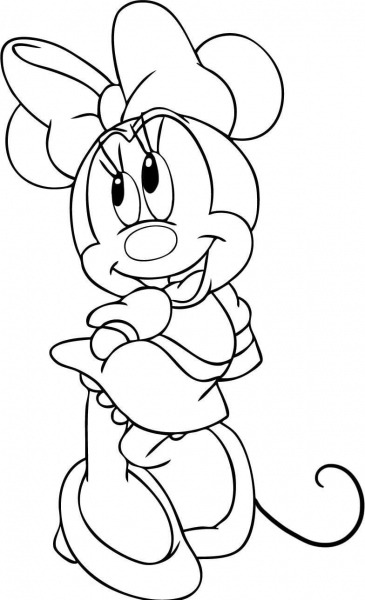 Desenhos Para Pintar Minnie