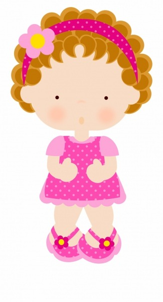 Black And White For Her Clipart Doll