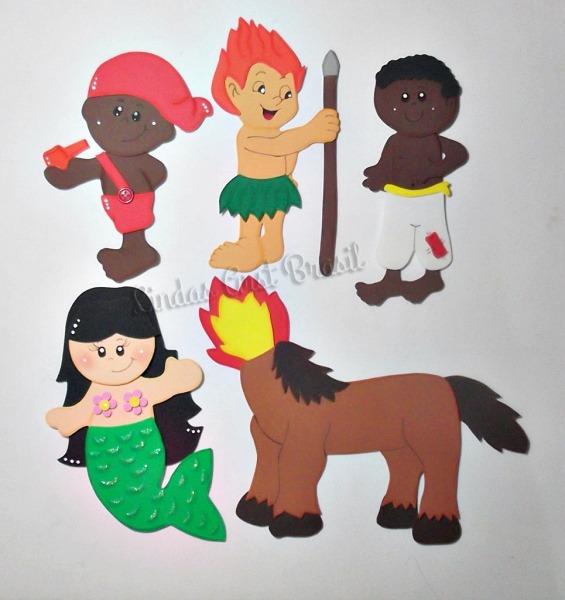 Apliques Em Eva, Personagens Do Folclore Brasileiro  Saci