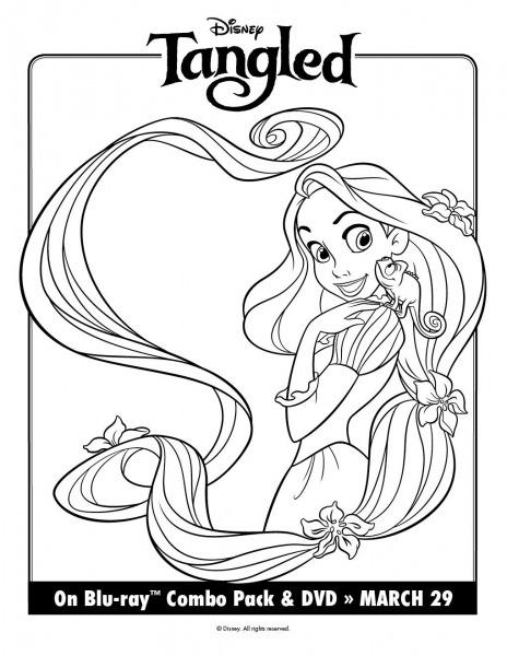 Disney Rapunzel Stencil