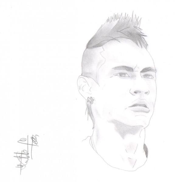 Desenhos Para Colorir Do Neymar