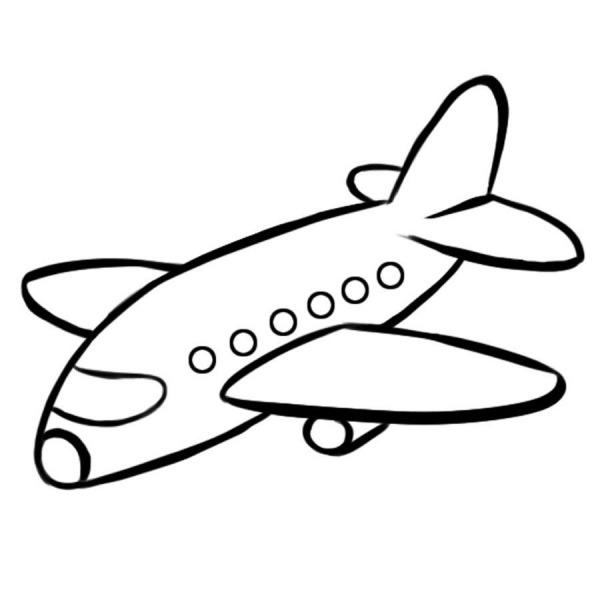 Dibujo Para Impirmir Y Pintar De Un Avión