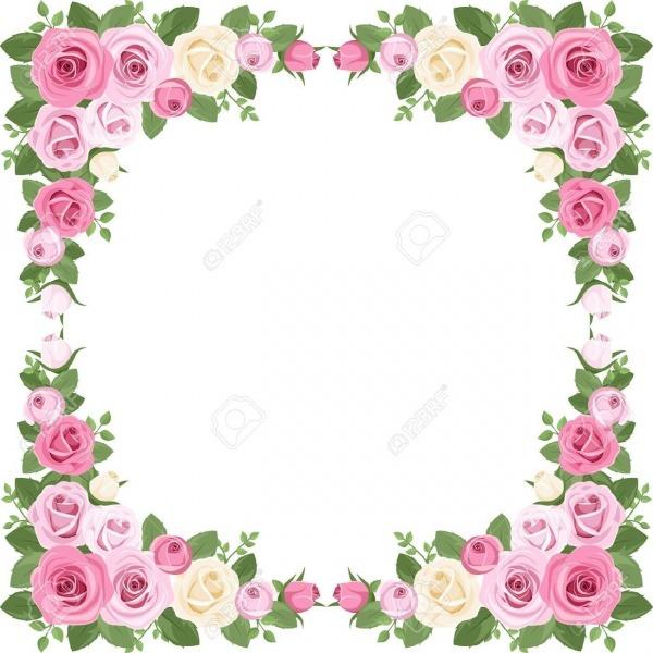 Para Imprimir  Bordes De Rosas