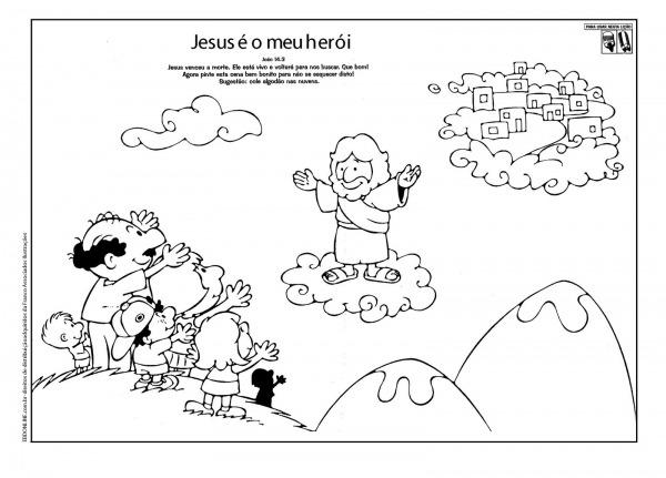 Desenhos Para Colorir Da Ressurrei  O De Jesus Cristo – Pampekids Net