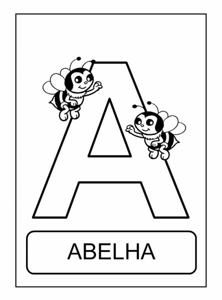 Alfabeto De Animais Para Colorir, Pintar, Imprimir