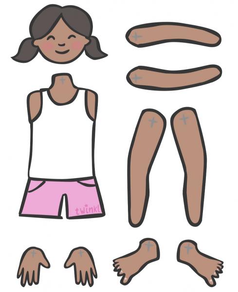 Construir E Montar A Figura Humana Com As Partes Do Corpo (cabeça