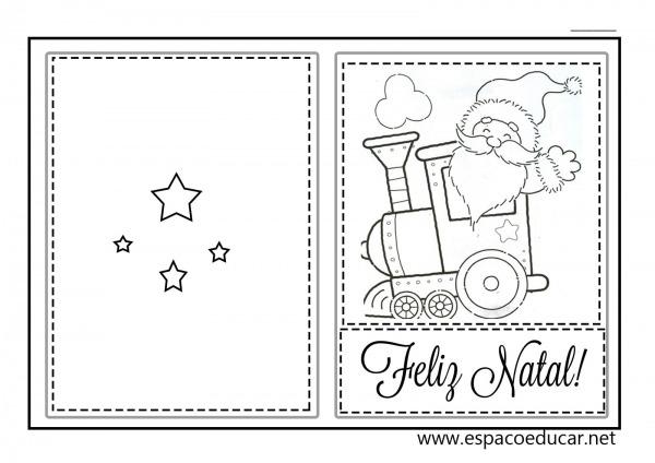 Cart Es De Natal Para Imprimir E Pintar