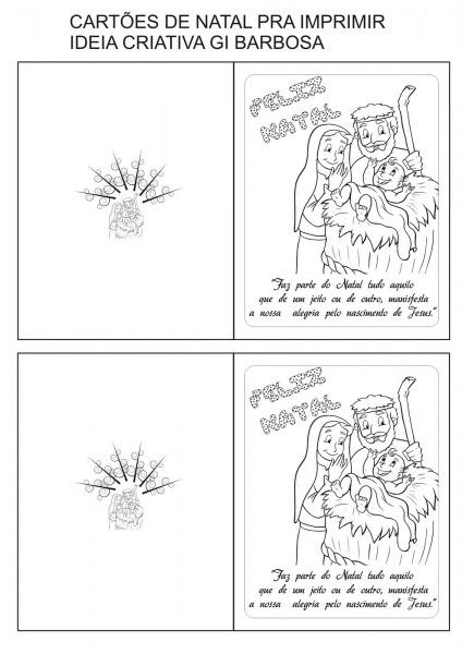Cart Es De Natal Para Imprimir E Colorir – Pampekids Net