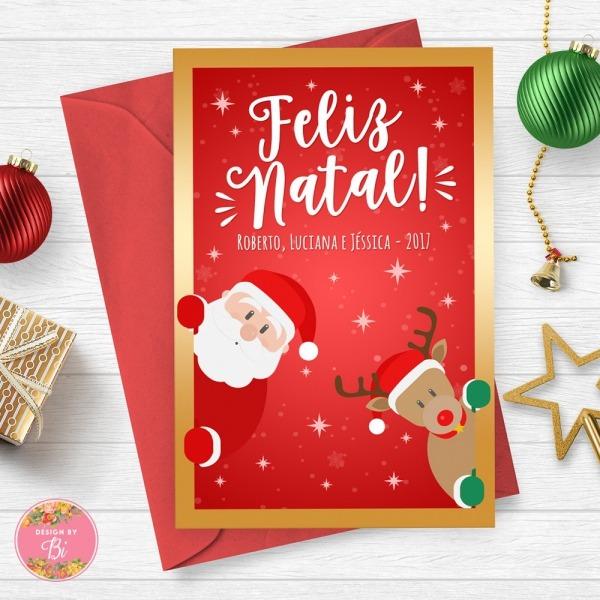 Cartão De Natal Personalizado Digital No Elo7
