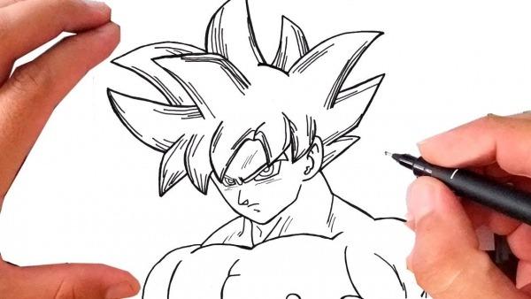Como Desenhar Goku Instinto Superior Passo A Passo