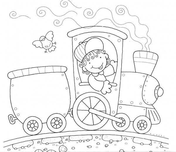 Desenhos De Trem Para Colorir E Imprimir