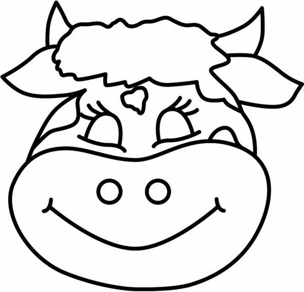 Cara De Vaca Para Colorir – Pampekids Net