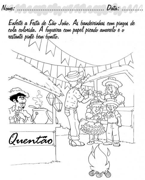 Atividades Da Tia Liu  Atividades Festa Junina SÃo JoÃo Santo