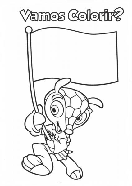 Fuleco O Mascote Da Copa Do Mundo Brasil 2014 – Desenhos Para