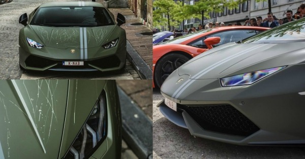 Quién Puede Ser Tan Miserable Como Para Rayar Este Lamborghini