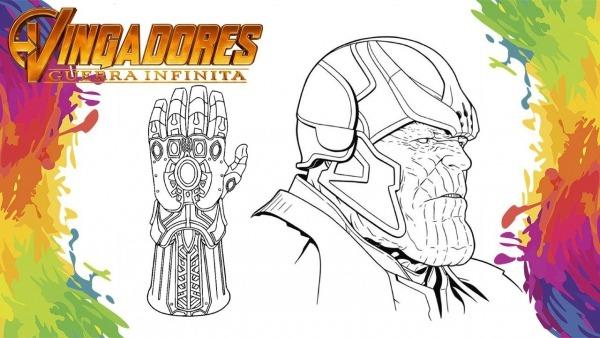 Pintar Thanos E Manopla Vingadores Ultimato Para Criança Em
