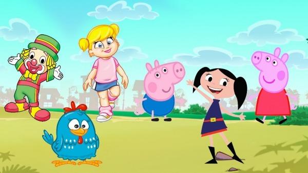 Desenhos Galinha Pintadinha Patati Patatá Xuxinha George Pig Show